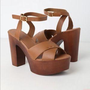 Lulus Galilea Whiskey Platform Sandals ✨